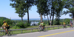 Biking along the Byway east of Rexford