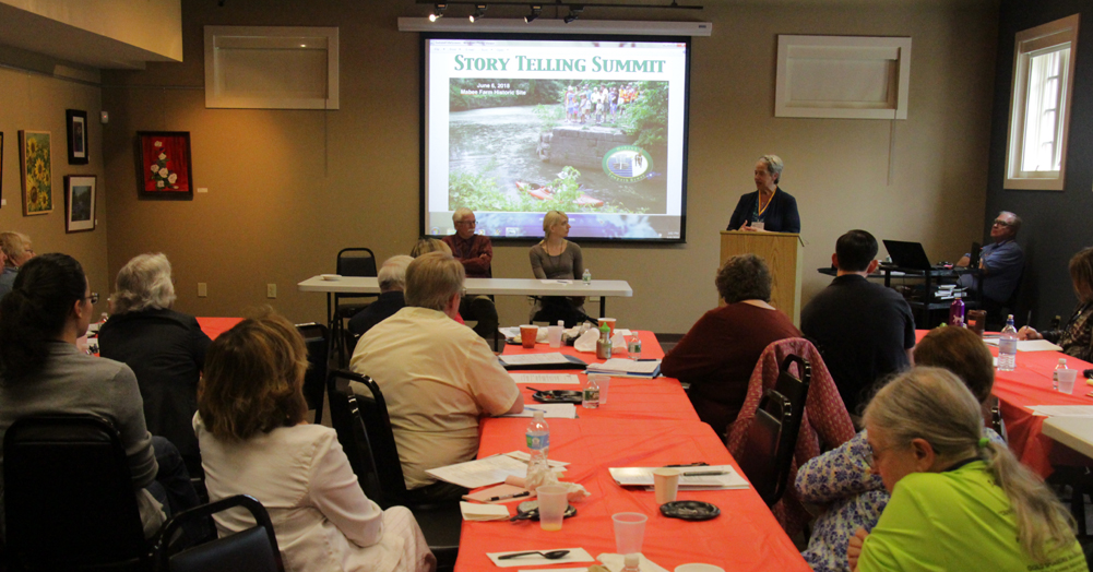 Kathy Sheehan spoke about the tours she has organized for the Rensselaer County Historical Association and how to appeal to various audiences by customizing the story and making it interesting.