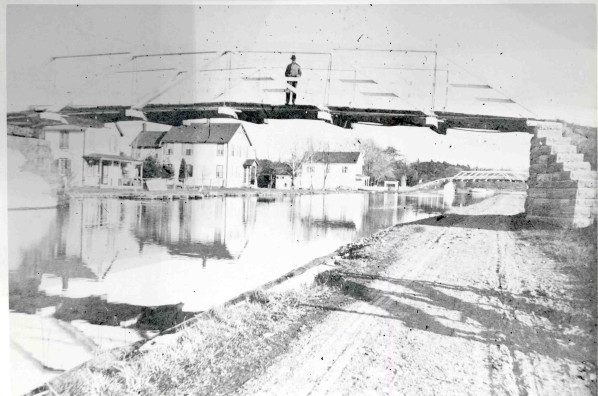 Bridge at Clutes Dry Dock.