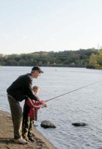 Fishing near Ferry Drive, Clifton Park - Photo by Myla Kramer