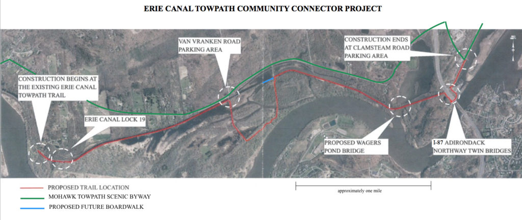 Towpath Trail Construction Map