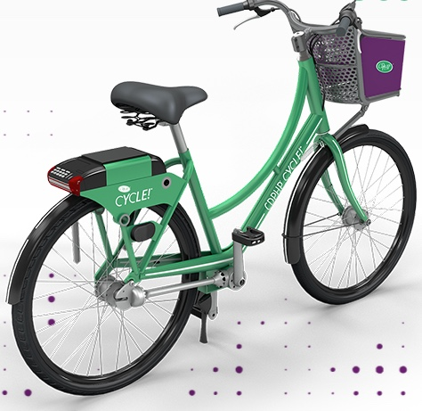 One of the New Bikes available on the BikeShare system