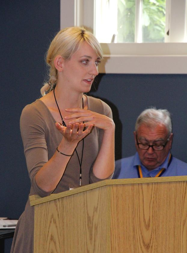 Mary Zawacki telling a story through exhibits.