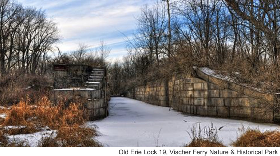 Historic Lock 19 in the Vischer Ferry Preserve winter- photo by Karl Barth